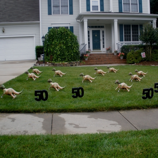Awesome Diy Exceptional Lawn Statues Birthday Yard Decoration Ideas Front Front Yard Decorating Ideas Images