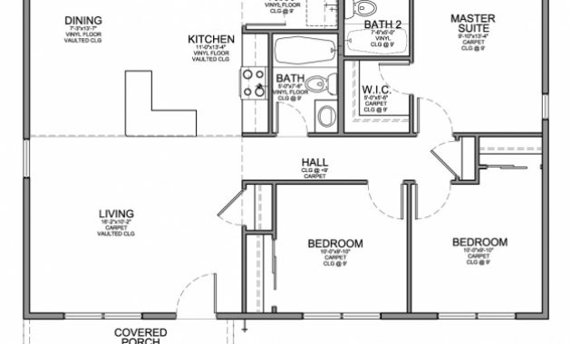 Awesome Floor Plan For Affordable 1100 Sf House With 3 Bedrooms And 2 3 Bedroom Floor Plan Picture