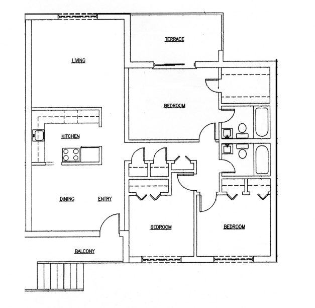 Awesome Spectacular 3 Bedroom House Plans Single Floor 3d 33002550 Simple 3 Bedroom Floor Plan Pic