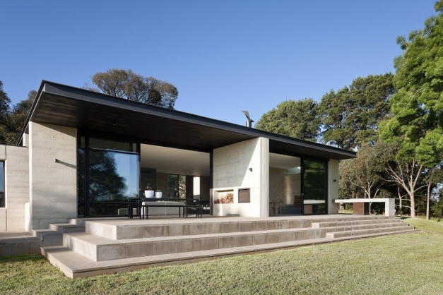 Best Architecture Black Flat Roof Material Come With Wood Ceiling Single Story Architecture Images