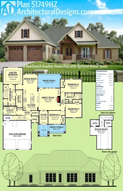 Delightful 142 Best Acadian Style House Plans Images On Pinterest Acadian French Acadian House Plans Images