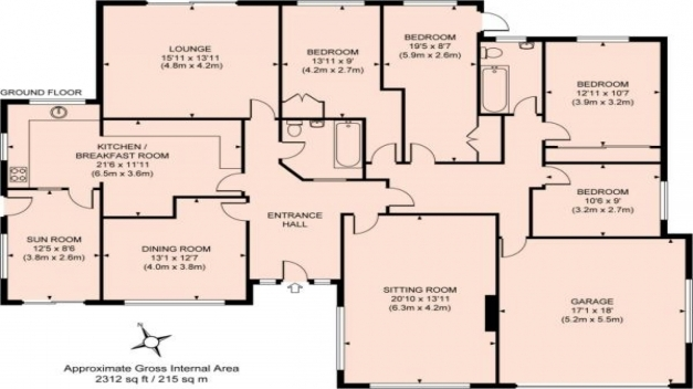 Delightful Apartments 4 Bed House Plans House Plans Bedroom Bungalow Flo Four Bedroom Bungalow House Plans Photo