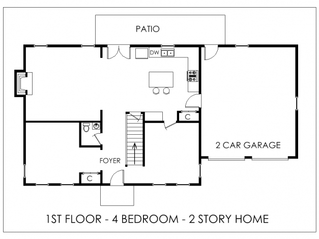 Delightful Simple House Plans With Dimensions Arts Bedroom Main Story Floor Simple House Floor Plans Picture