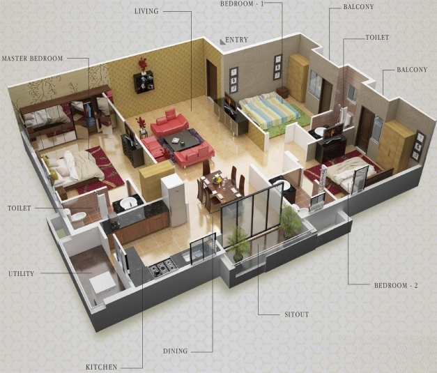 Fantastic Mesmerizing 3d House Plans Indian Style Photos Best Inspiration 3d House Plans Indian Style Image