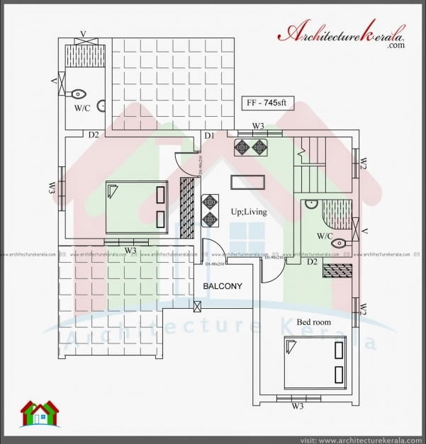 Fantastic Three Bedroom Two Storey House Plan Architecture Kerala 3 Bedroom House Plans In Kerala Double Floor Picture