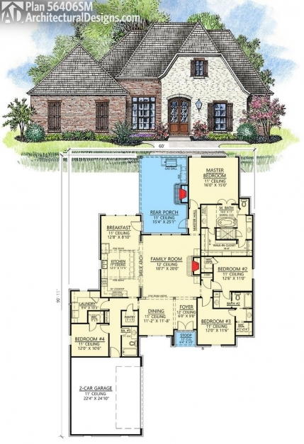 Fascinating 142 Best Acadian Style House Plans Images On Pinterest Acadian French Acadian House Plans Pics
