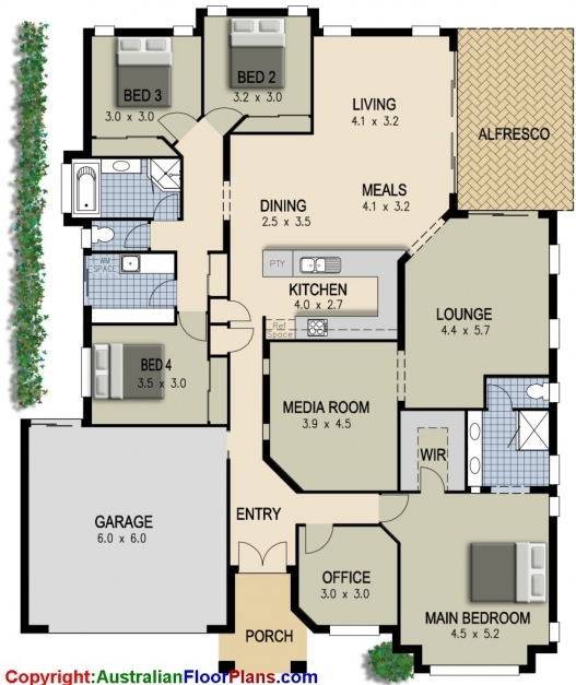 Fascinating 4 Bedroom House Plans Simple 4 Bedroom House Plans Home Design Ideas Four Bed Room Plan Pictures