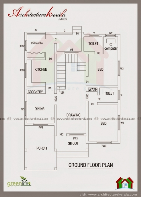 Fascinating Architecture Kerala Contemporary Elevation And House Plan Low Kerala Floor Plans Pics