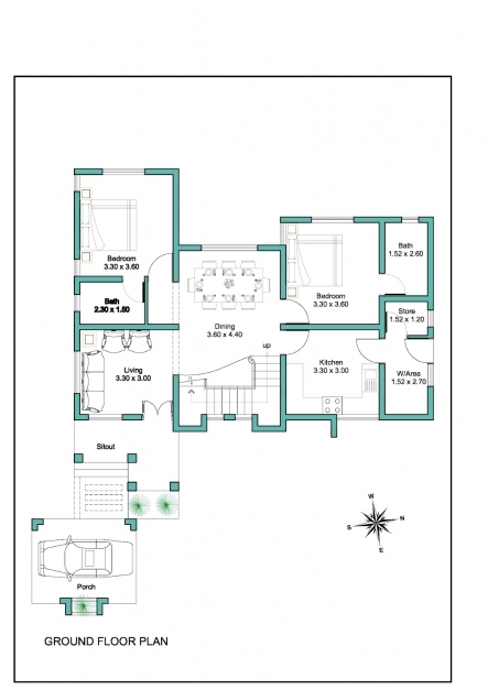 Fascinating Decor Modern House Plant And Small Kerala House Plans With Small Kerala Floor Plans Image