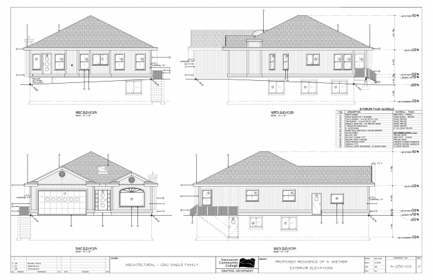 Fascinating House Plan Elevation Drawings Interesting Drawing Elevations About Plan Section And Elevation Of Residential Houses Photos