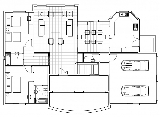 Gorgeous Autocad House Plan Tutorial Admirable Index Of Autocad 2d Plan With Dimensions Images