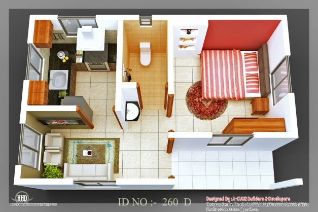 Gorgeous Isometric Views Small House Plans Kerala Home Design Floor 3d House Plans Indian Style Photo