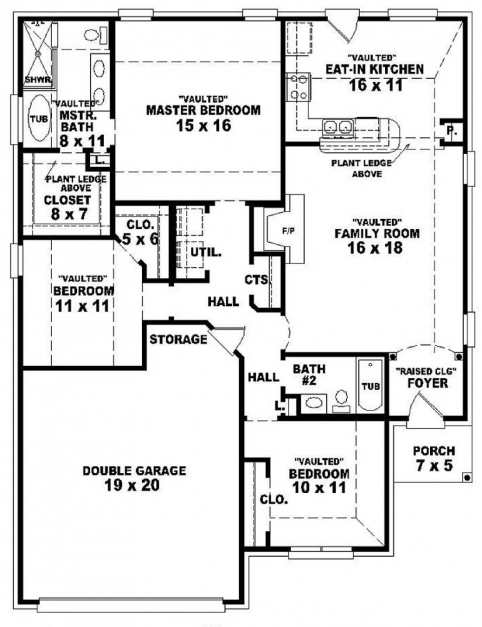Gorgeous One Story Bedroom House Plans Cabin Inspirations Single Floor 3 3 Bedroom House Plan Single Floor Picture