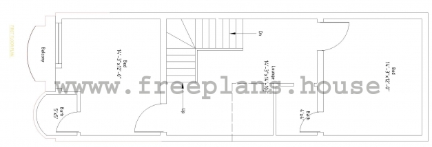Incredible 1545 Feet 62 Square Meters House Plan House Images 15by 45 Photo
