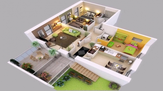 Incredible 4 Bedroom House Plans 2 Story 3d Youtube 4 Bedroom House 3d Image