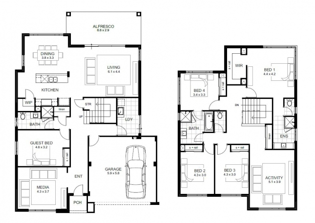 Incredible 5 Bedroom House Designs Perth Double Storey Apg Homes 5 Bedrooms Storey House Plans Photos