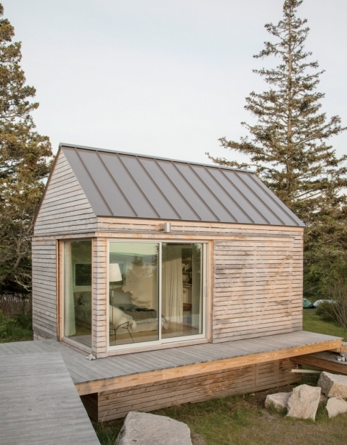 Incredible Gallery A Tiny Cabin Compound In An Old Quarry Go Logic Small Minimalist Cabins Image