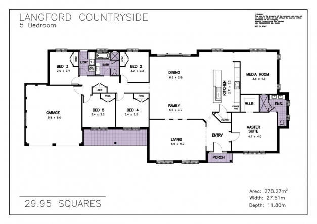 Incredible House Plan Allworth Homes 29 Langford Countryside 5 Bedroom Media 5 Bedrooms Storey House Plans Pic