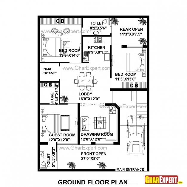 Incredible House Plan For 35 Feet 50 Feet Plot Plot Size 195 Square Yards House Plan For 50 Feet By 50 Feet Plot Picture