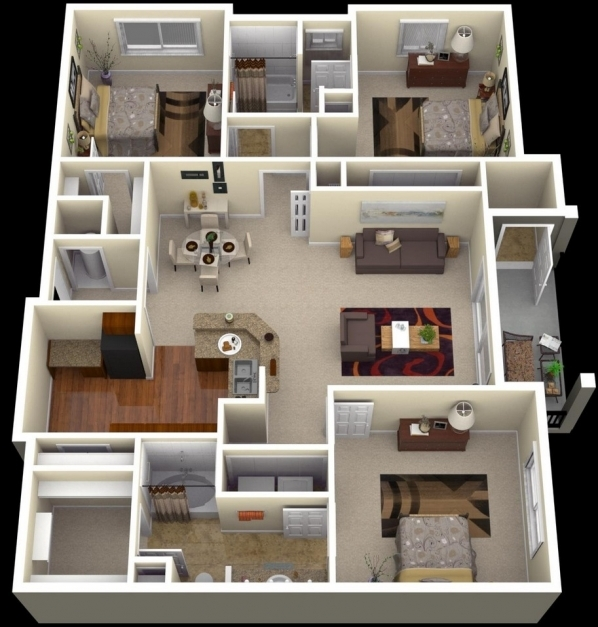 Incredible Three Bedroom House Plans With Photos Shoise Three Bedroom Modern House Photos