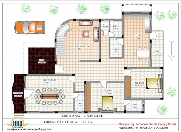 Inspiring Luxury Indian Home Design With House Plan 4200 Sqft Home Home Design Plans With Photos In India Picture