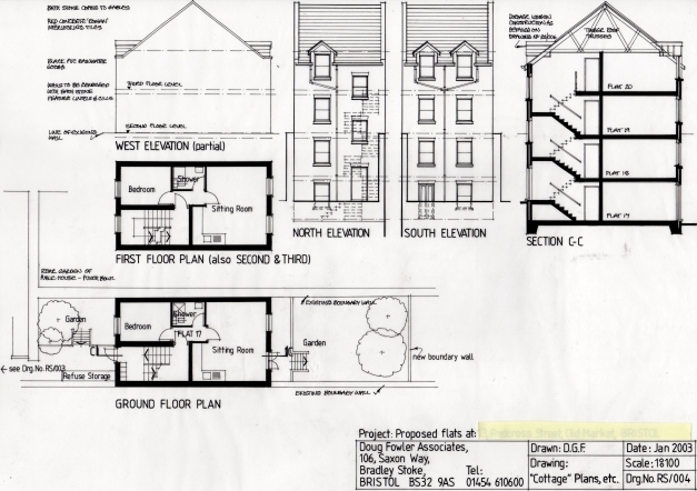 Inspiring Proposed Flats Section And Elevations Doug Fowler Architect Plan Elevation And Section Drawings Image