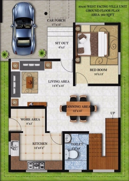 Marvelous 30x40 House Plan Ground Floor Homes Zone 15 50 House Plan Image