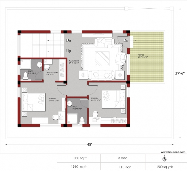 Marvelous Indian House Plans For 1500 Square Feet Houzone Indian House Plans For 1200 Sq Ft Pic