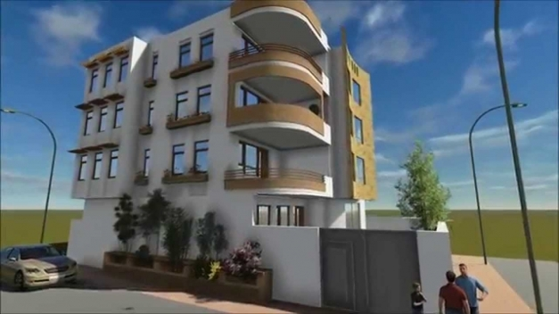 Marvelous Residential Building Design And 3d Animation Youtube Architectural Design Of Residential Building Image