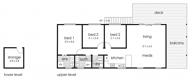 Marvelous Simple Bedroom Ranch House Plans Plan Hampshire 3 Bedroom 3 Bedroomed Cottage House Plans Pic