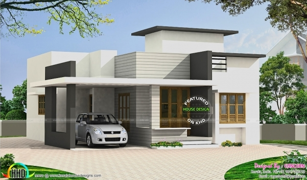 Marvelous Small Budget Flat Roof House Kerala Home Design Floor Plans Tamilnadu Best House Gallery Image