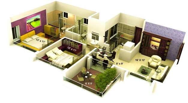 Outstanding 3d Home Plan 1500 Sq Ft Inspirations Including Decorating Ideas Us 1500 Sq Ft House Interiors Picture India Photos