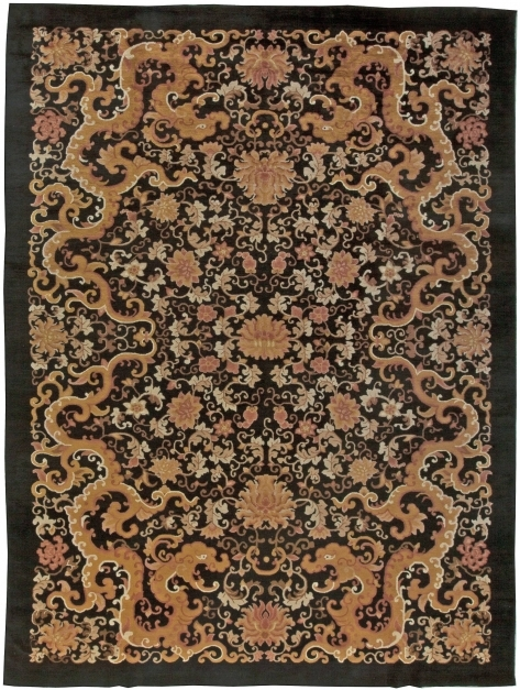 Outstanding Chinese Rugs From Rug Collection Doris Leslie Blau Vintage Bloom Rug Gold Photo