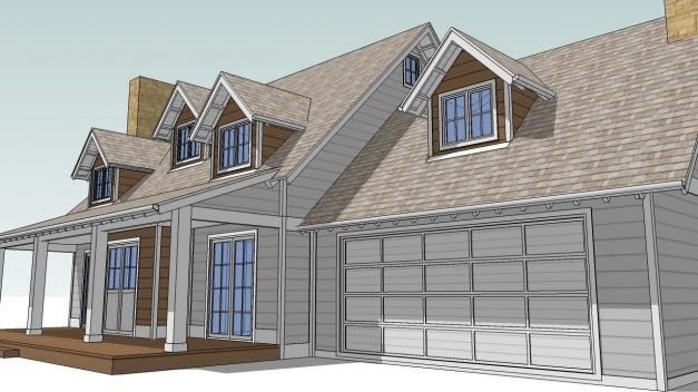 Outstanding Design An Attic Roof Home With Dormers Using Sketchup Part 2 The Dormer Window Roofs Photos