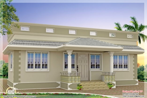 Outstanding Style Single Floor Bedroom Home Kerala Design House Building Indian Small Styles House Photo
