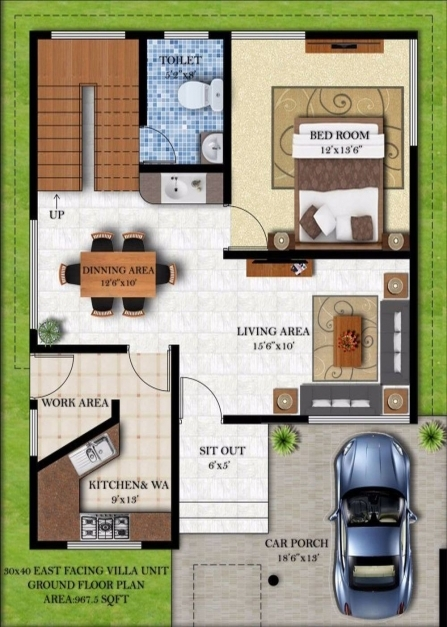 Remarkable 30 X 40 House Plan East Facing Home Plans India Simple 3 10 15 50 House Plan Photo