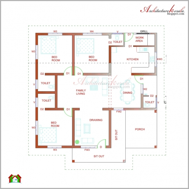 Remarkable Architecture Kerala Beautiful Kerala Elevation And Its Floor Plan Kerala Floor Plans Pictures