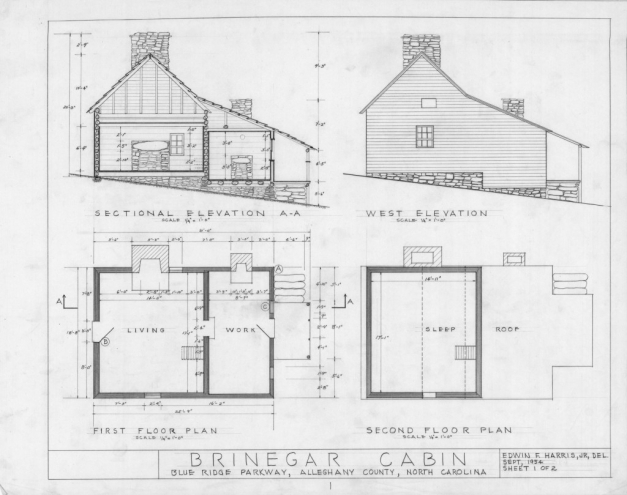 Remarkable House Plan Cross Section West Elevation Floor Plans Brinegar House Plan Section And Elevation Of Residential Houses Picture