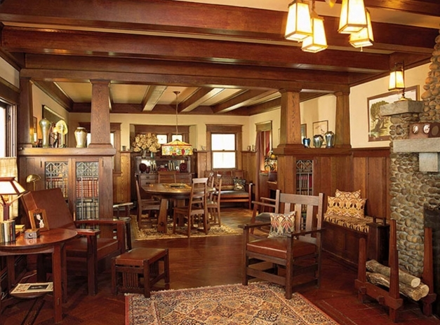 Remarkable House Styles The Craftsman Bungalow Arts Crafts Homes And The Craftsman Home Interior Pic