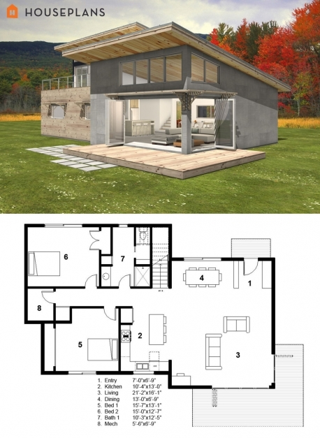 Remarkable Small Modern Cabin House Plan Freegreen Energy Efficient Small Modern Cabin Plans Picture