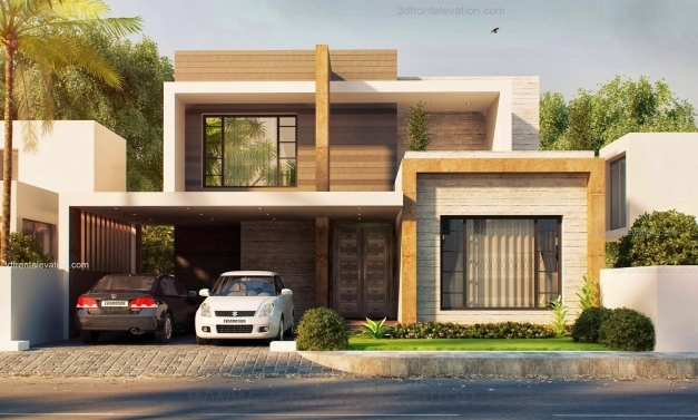 Stylish Brown Modern House Front Elevation Modern House Design Solutions Modern House Elevation Pictures