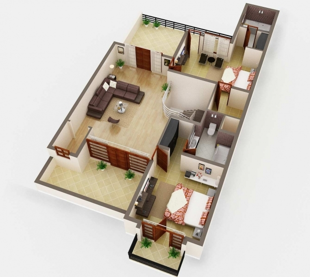 Wonderful 3d House Plan Indian Style 3d Floor Plan Rendering House Plan 3d House Plans Indian Style Picture