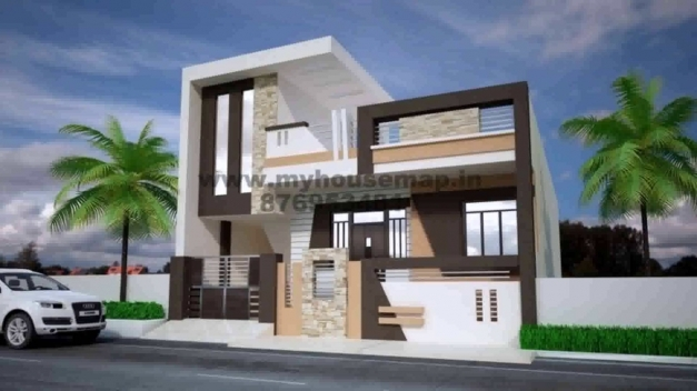 Wonderful House Plans Front Elevation India Youtube Front Elevation Of Homes Picture