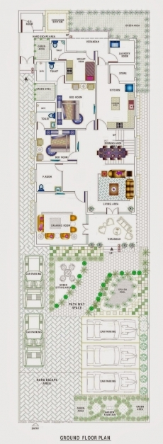 Amazing 15x50 House Plan House And Home Design 15x50house Plan With Images Image