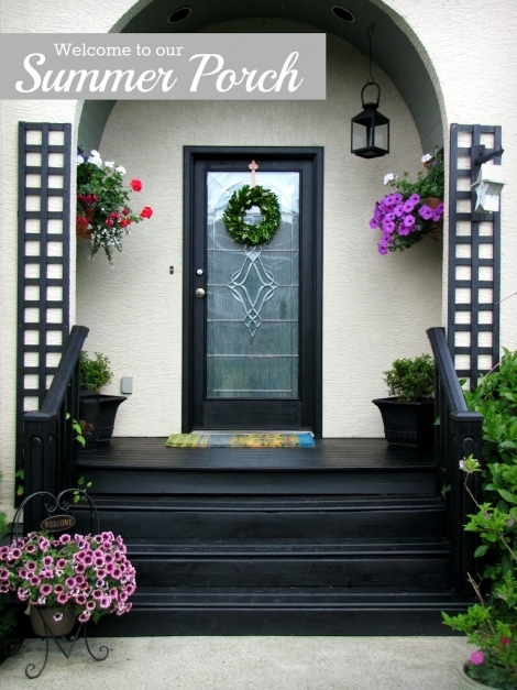 Amazing Summer Patio Clean And Scentsible Painted Front Porches Picture