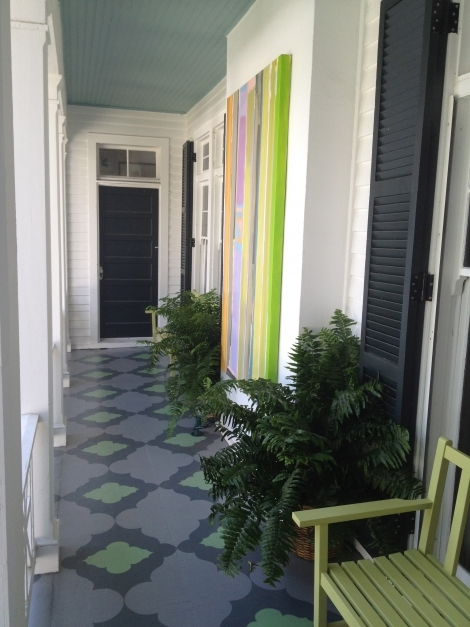 Awesome Outstanding Idea For Tile In The Porch Floor And Wall With Home Painted Porch Ideas Picture