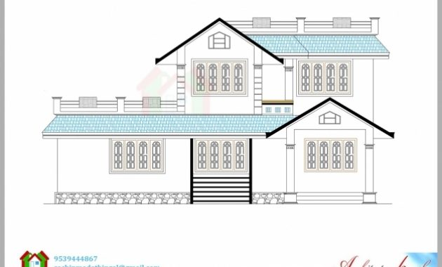 Best 1600 Square Feet House Plan And Its 3d Elevation Architecture Kerala House Plan And Elevation Images