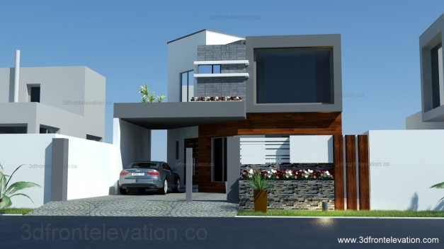 Best 3d Front Elevation 8 Marla House Plan Layout Elevation House Floor Plan With 3d Elevation Pics