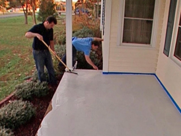 Best How To Stamp A Concrete Porch Floor How Tos Diy Painted Porch Ideas Photo
