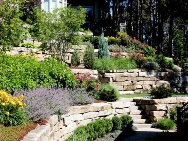 Best Image Of Steep Slope Landscaping Ideas On A Sloped Front Yard Backyard Slope Landscaping Ideas Pic